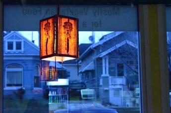 Lamp in the Shambala restaurant. Salt Lake City.